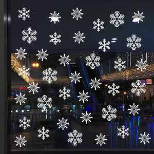 Image 4 - 38 pcs/lot snowflake electrostatic Sticker Window Kids room Christmas Wall Stickers Home Decals Decoration New Year wallpaper