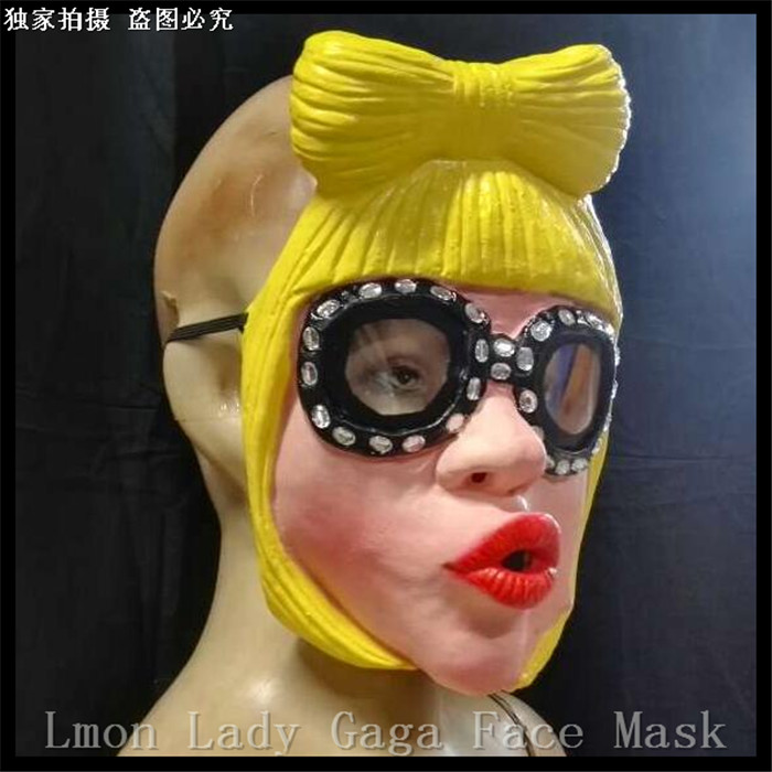 Hot !!New Lady Gaga Party Halloween Latex Mask Cosplay Costume Full Face Mask Woman Man Children Mask Anonymous Masque Venitien