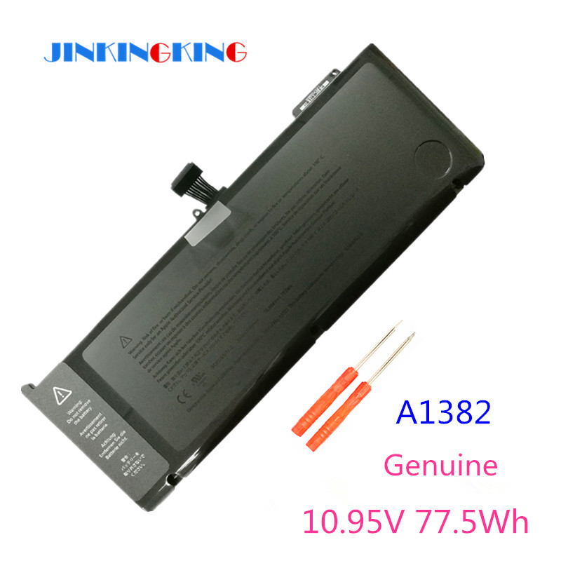 10.95V 77.5Wh A1382 A1286 Laptop Battery For Apple Macbook Pro 15