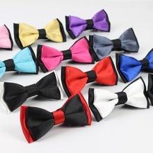 Классический детский костюм галстук для маленьких мальчиков, модный Одноцветный регулируемый галстук-бабочка, детский двухцветный галстук-бабочка для кота, собаки