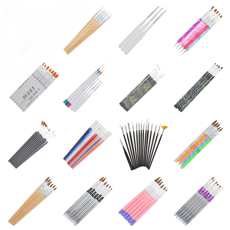 YZWLE 21 Different Styles DIY Nail Art Acrylic UV Gel Design Brush Painting Drawing Pen Tips Tools Kit (X22-41)