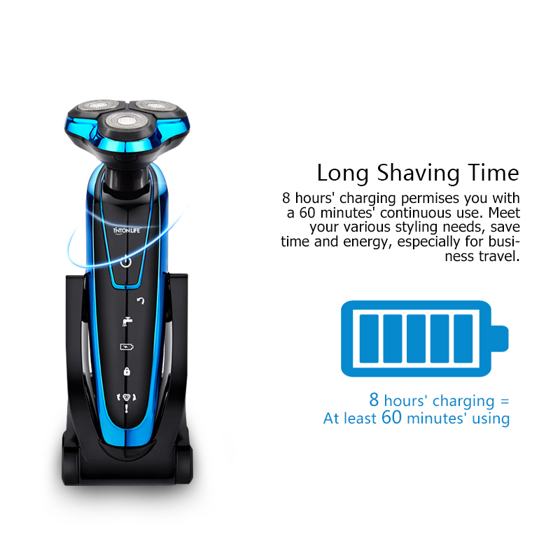 TINTON LIFE Men Washable Rechargeable Electric Shaver Electric Shaving Beard Machine Razor Rechargeable 3
