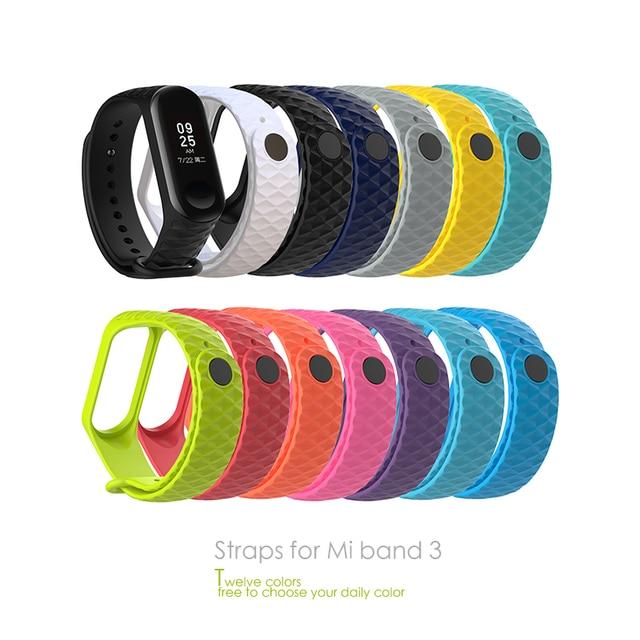 For Mi Band 3 Strap bracelet Silicone Wristband and Xiaomi Mi Band3 xiomi band Smart miband3 Band Accessories wrist Strap