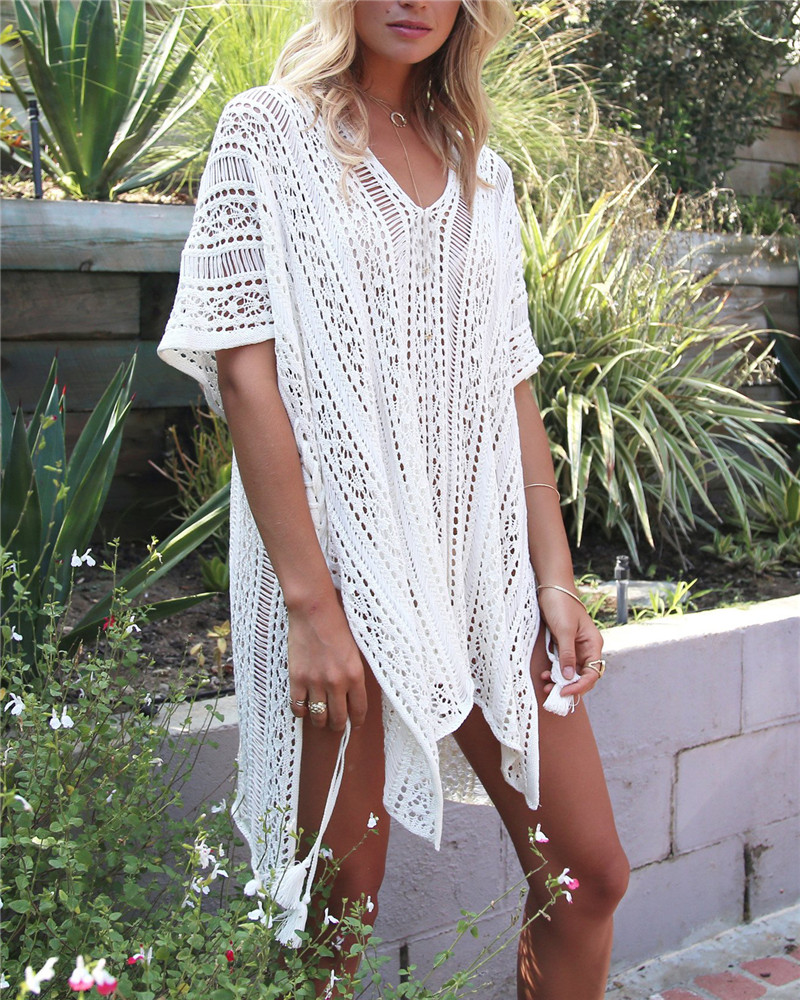 0821d722a1bae Ariel Sarah Bikini Covers Up Beach Coat Swimsuit Cover Ups Lace Beachwear  Sun Protection Clothes Knitted Loose Bikini Cover up-in Cover-Ups from  Sports ...