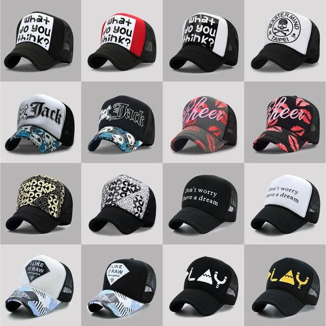 60 Colors Adult Summer Mesh Trucker Caps Men Hip hop Punk Rock Snapback Hat  Women Curved Baseball Cap 77724679a25
