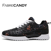 FABRECANDY 2018 Hot Sales Fashion Light Breathable Lace Up Men Shoes Unisex Lover Casual Shoes Sneakers