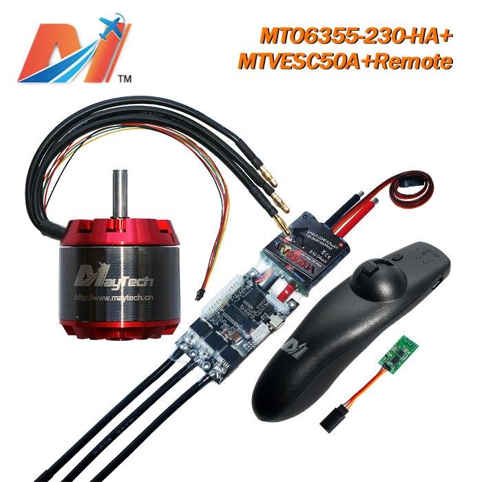 Maytech 6355 230kv moteur de planche à roulettes et super esc même vesc et quad électrique à distance pour longboard eletrica (3 pièces)