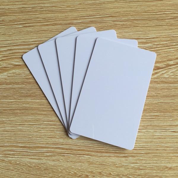 100 Blank Printable PVC Plastic Photo id White Credit Card 30Mil CR80 free shipping