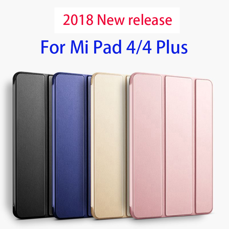 Case For Xiaomi Mipad <font><b>4</b></font> / Mi Pad <font><b>4</b></font> 8.0 inch Wake Silicone Smart Cover For Xiaomi Mi Pad <font><b>4</b></font> Plus <font><b>10.1</b></font> inch Case image
