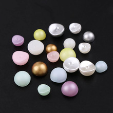 8mm 20Pcs 3D Mixed Color Matte Candy Concave pearls curved Top Level Beads DIY Nail Art Glitter pearls Manicure Decoration Tool