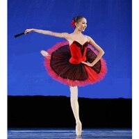 Бесплатная доставка Профессиональный индивидуальный заказ Балетные костюмы пачка, Балетные костюмы сценические костюмы лиф и Тюлевая юбк