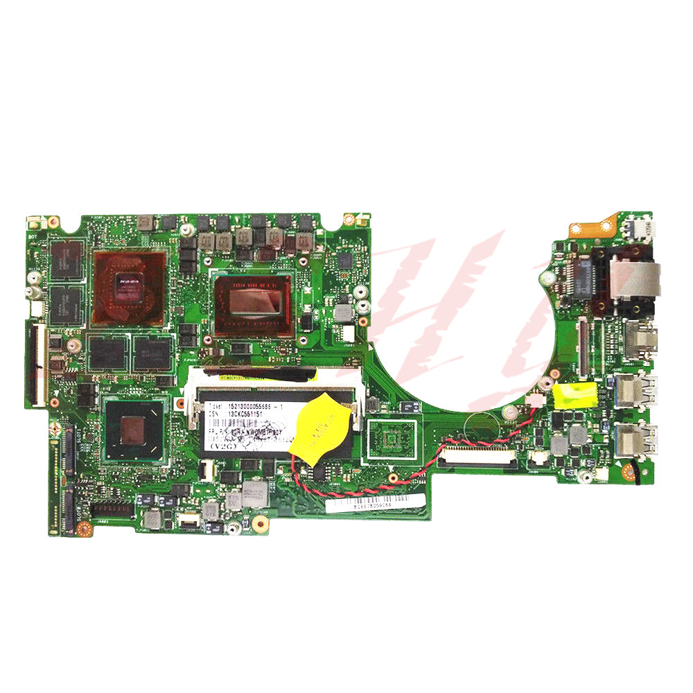 For ASUS UX51VZA Laptop motherboard 60-NWOMB1H02 i7 cpu 4GB HM77 GT650M 2GB UX51VZ REV2.0 Free Shipping 100% test ok