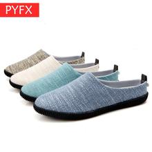 2019 autumn best selling lightweight simple wear-resistant non-slip mens large size linen shoes casual flat Japanese sandals
