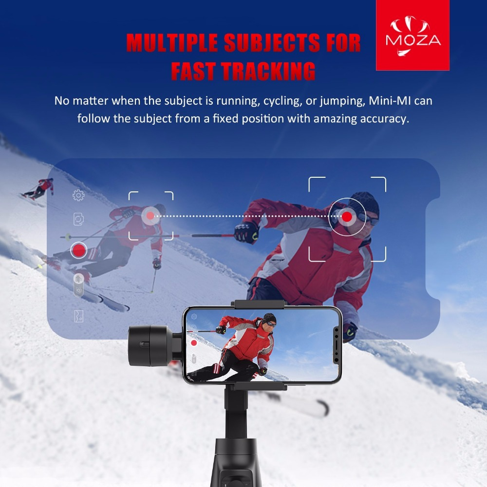Stabilisateur de cardan Moza mini-mi Vlog 3 axes pour Smartphone iphone/8/7/7 Plus/6, caméra d'action Huawei Samsung Galaxy & Gopro - 3