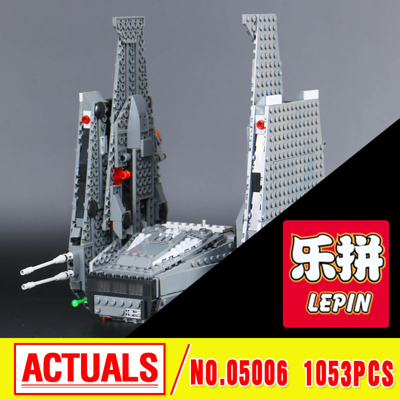 Lepin 05006 Star Kylo Ren Command Shuttle LEPIN Building Blocks  Educational Toys Compatible with 75104 Lovely Funny Toys  wars color metal 3d puzzle star wars millennium falcon for adult 2016 new batman flying wing kylo ren shuttle 3d nano jigsaw puzzles
