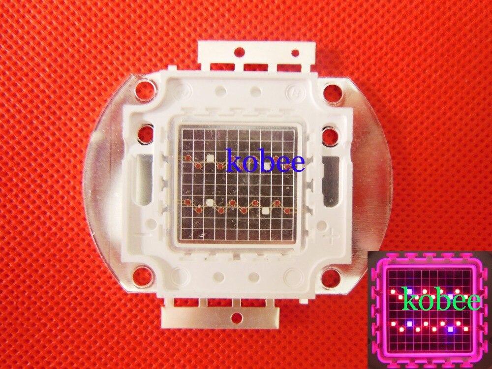 10pcs 20W Red 660nm Royal Blue 450nm 4 1 Hybrid High Power LED Light Source for