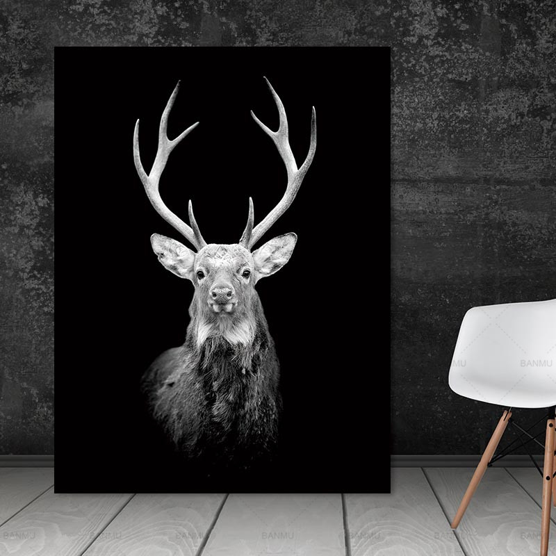 Wall Artwork Footage Animal Canvas Portray Black And White Artwork Wall Poster Residence Decor Print On Canvas Ornament For Residing Room