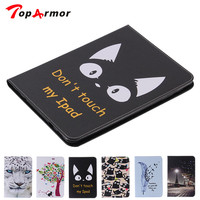 TopArmor Wallet Flip Stand PU Leather Cover For Samsung GALAXY Tab S2 9.7 SM-T810 T815 Tablet Wallet case