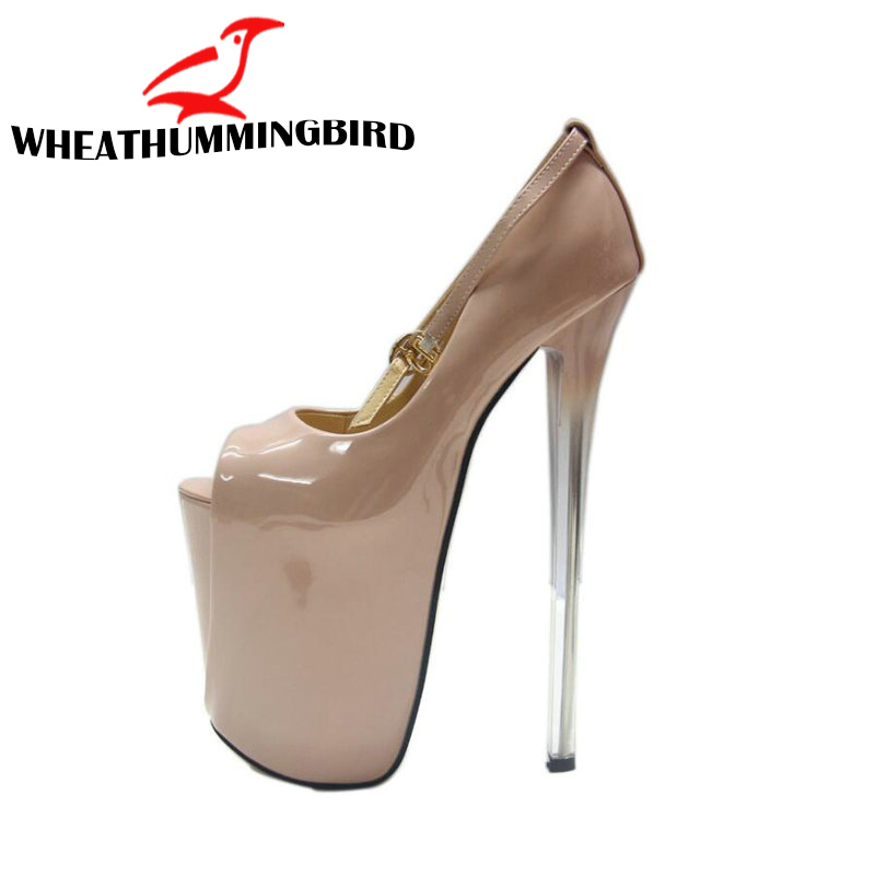... Toe High Heels Shoes Woman Wedding Party Shoes NN-90 · 19CM.16 CM.22CM  BIG SIZE 34-43 Ladies Thin Heels Pumps Platform ae7c1bada7d1