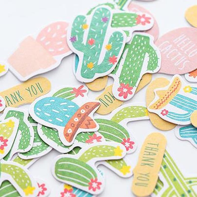 Flamingo Cute Stickers Cactus Stationary Sticker Student Art Supplies Kawaii Flower Sticker Diary Personalized Stickers Diary