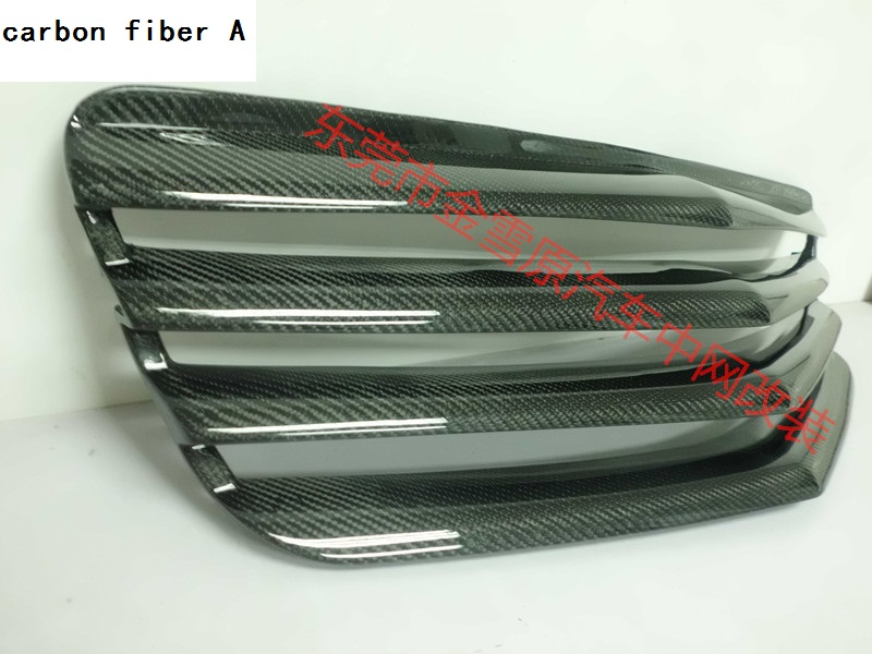 Fit for 07 09 Mercedes Benz E W211 carbon fiber Or FPR  car grill  high quality|car grill|fit grill|w211 grill - title=