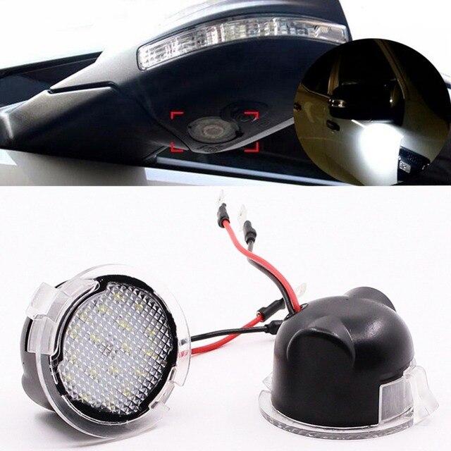 2 Pcs LED Sous Côté Miroir Flaque Lumière pour Ford Edge Fusion Flex Explorer Mondeo Taurus F-150 Expédition