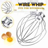 6-Wire Whip Whisk Egg Beater Cream Mixer Stainless steel Attachment For K5AWW Stand Mixers Milkshake Noodle Maker