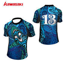 Kawasaki Custom Rugby Jersey Logo Top Mens & Jeugd XS-4XL Plus Size Polyester Quick Dry Korte Sport Team Wear Top T Shirts(China)
