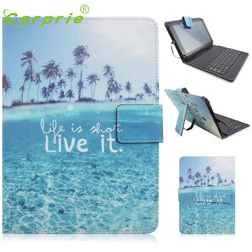 CARPRIE 7-8 inch Universal Leather Case Cover with Micro USB Keyboard For Tablet PC Feb27 MotherLander