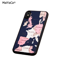 The map of europe soft silicone edge mobile phone cases for apple iPhone x 5s SE 6 6s plus 7 7plus 8 8plus XR XS MAX case стоимость