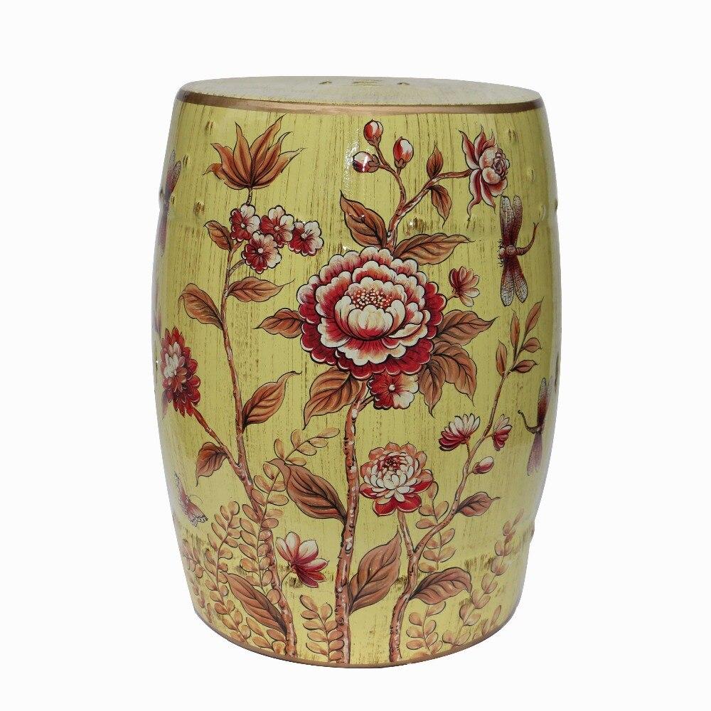 Модный керамический стул с барабаном табурет для туалетного столика, сменный табурет для обуви, модные аксессуары для дома, украшение, пода