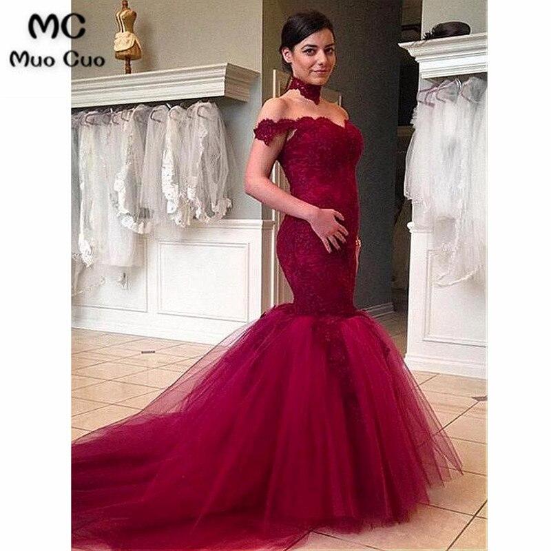 Vintage 2018 Burgundy   Prom     dresses   with Appliques Short Sleeve long graduation   dresses   Zipper Back Evening   Prom     Dress   for Women