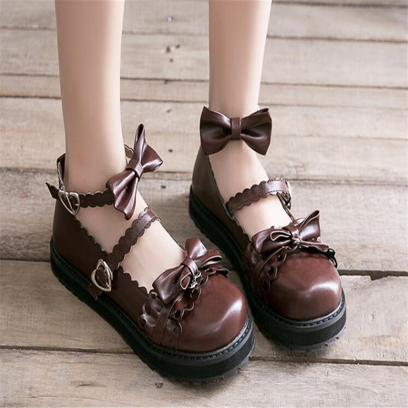 Image 3 - bowknot  LOLITA Shoes JK Uniform Shoes PU Leather  lolita Shoes A947-in Shoes from Novelty & Special Use