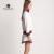 Mulheres Vestidos de marca Define EE Duas Peças Vestidos De Malha Set 2017 Mulheres Hoodies Uniformes de Beisebol com Mini Saia Ternos