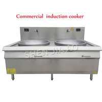 30kw 380V Daul-cooker Commercial concave induction cooker large pot stove electromagnetic large frying stove School factory