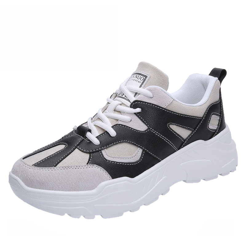 SUROM Spring Men Fashion Sneakers Male PU Leather Casual Shoes Breathable Black White Male Shoes Men Krasovki tenis masculino