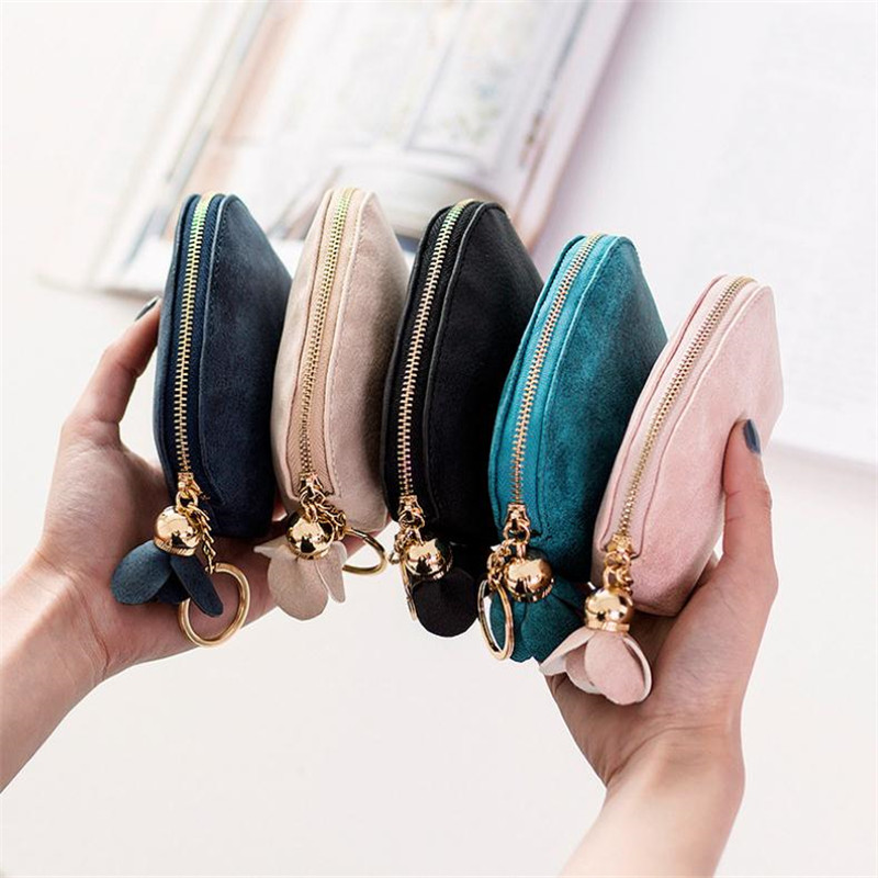 цена на NIBESSER Women Leather Small Mini Wallet Holder Female Wallet Case Carte Porte Card Key Money Bag Zip Coin Purse Clutch Handbag