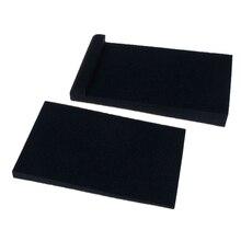 2 uds almohadillas aislantes de espuma de aislamiento acústico para altavoz de Monitor de estudio de esponja