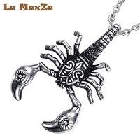 La MaxZa Punk Scorpions Necklace Knight Pendant for Men The Punk Rock Accessories Titanium Steel Necklaces Hip Hop Necklaces