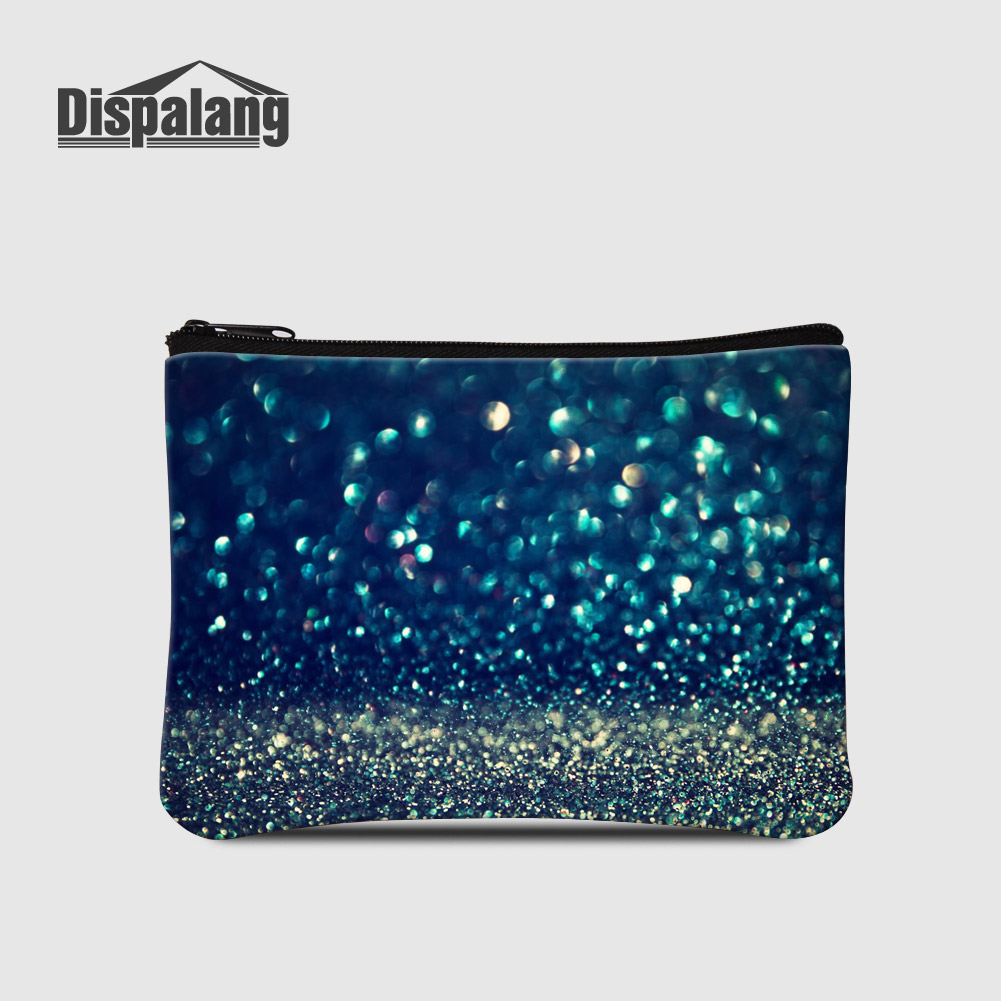 Coin Purse Abstract Blue Pattern Coin Pouch With Zipper,Make Up Bag,Wallet Bag Change Pouch Key Holder