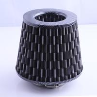 Gray Universal Chrome Finish Car Air Filter Induction Kit High Power Sports Mesh Cone Chrome Finish