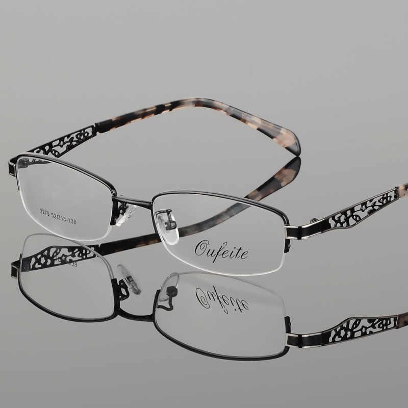 BCLEAR оптические очки рамки очки с полуободками близорукость S для женщин чистые прозрачные очки полые цветок s