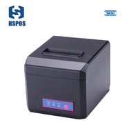 Pos 80mm Thermal Receipt Printer With Auto Cutter Serial Port Quality Kichen Bill Printing Machine High