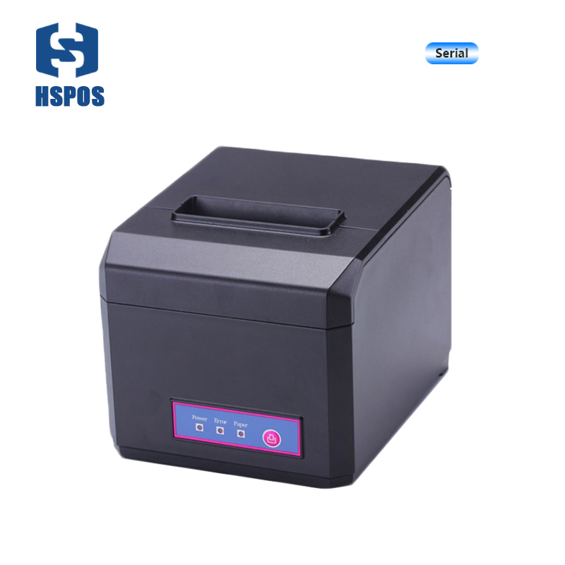 Pos 80mm thermal receipt printer with auto cutter serial port quality kichen bill printing machine high speed also support 58mm 2017 new arrived usb port thermal label printer thermal shipping address printer pos printer can print paper 40 120mm