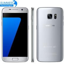 Оригинальный Samsung Galaxy S7 G930F мобильный телефон Quad Core 4 ГБ Оперативная память 32 ГБ Встроенная память Водонепроницаемый 4 г LTE 5.1 дюймов NFC GPS 12MP смартфон
