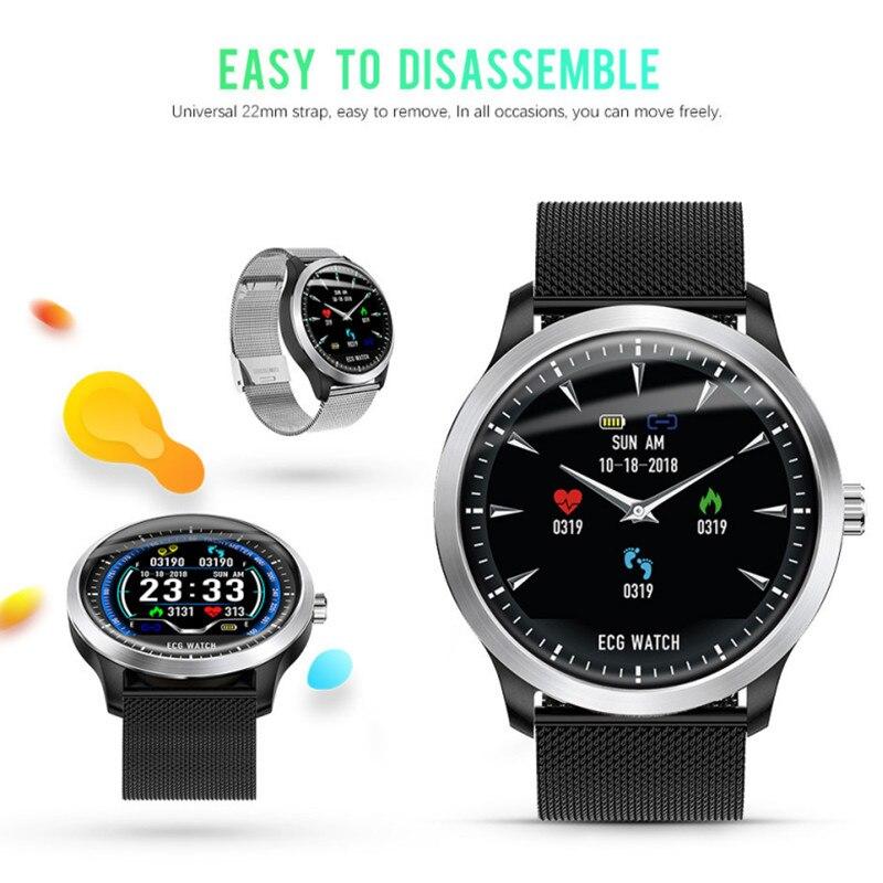 LYKRY N58 montre intelligente hommes femmes ECG PPG Smartwatch tension artérielle moniteur de fréquence cardiaque ECG montre pour Android IOS reloj inteligente