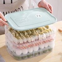 Multi-camada de plástico pp caixa de armazenamento de bolinho geladeira congelado bandeja de bolinho de alimentos domésticos recipiente de armazenamento mais nítido mx6211523