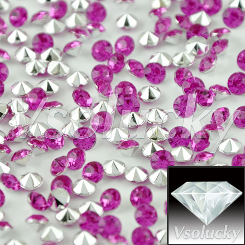 Home & Garden Generous Diamond Confetti Fuchsia&silver 10000 Pcs/bag 4.5mm 1/3carat Crystal Wedding Table Scatter Decoration Shower Wedding Party Non-Ironing Party Diy Decorations