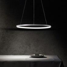Luces LED colgantes circulares para sala de estar, lámparas suspendidas simples y modernas, iluminación colgante para restaurante