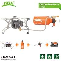 BRS-8 Multi Olla de Aceite Portátil Para Acampar Estufa De Gas Para Cocinar Al Aire Libre de la Comida Campestre Plegable Quemador Brander PK calor Fuego Arce FMS-X2